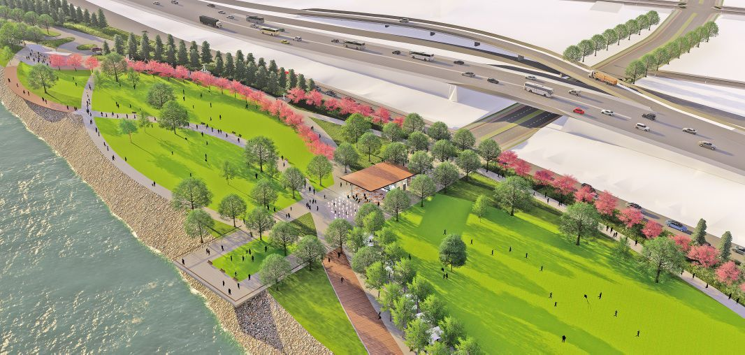Sioux City riverfront development rendering