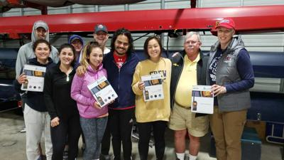 LU Crew team receives safety radios from Sea Tow SML