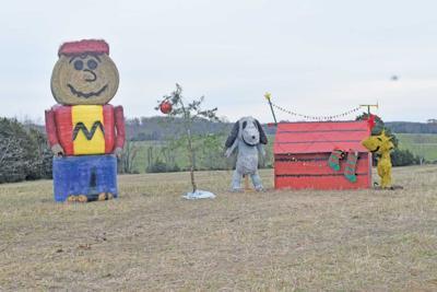 Charlie Brown Hay Bale Sculpture
