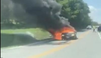 Huddleston Fire Department responds to vehicle fire
