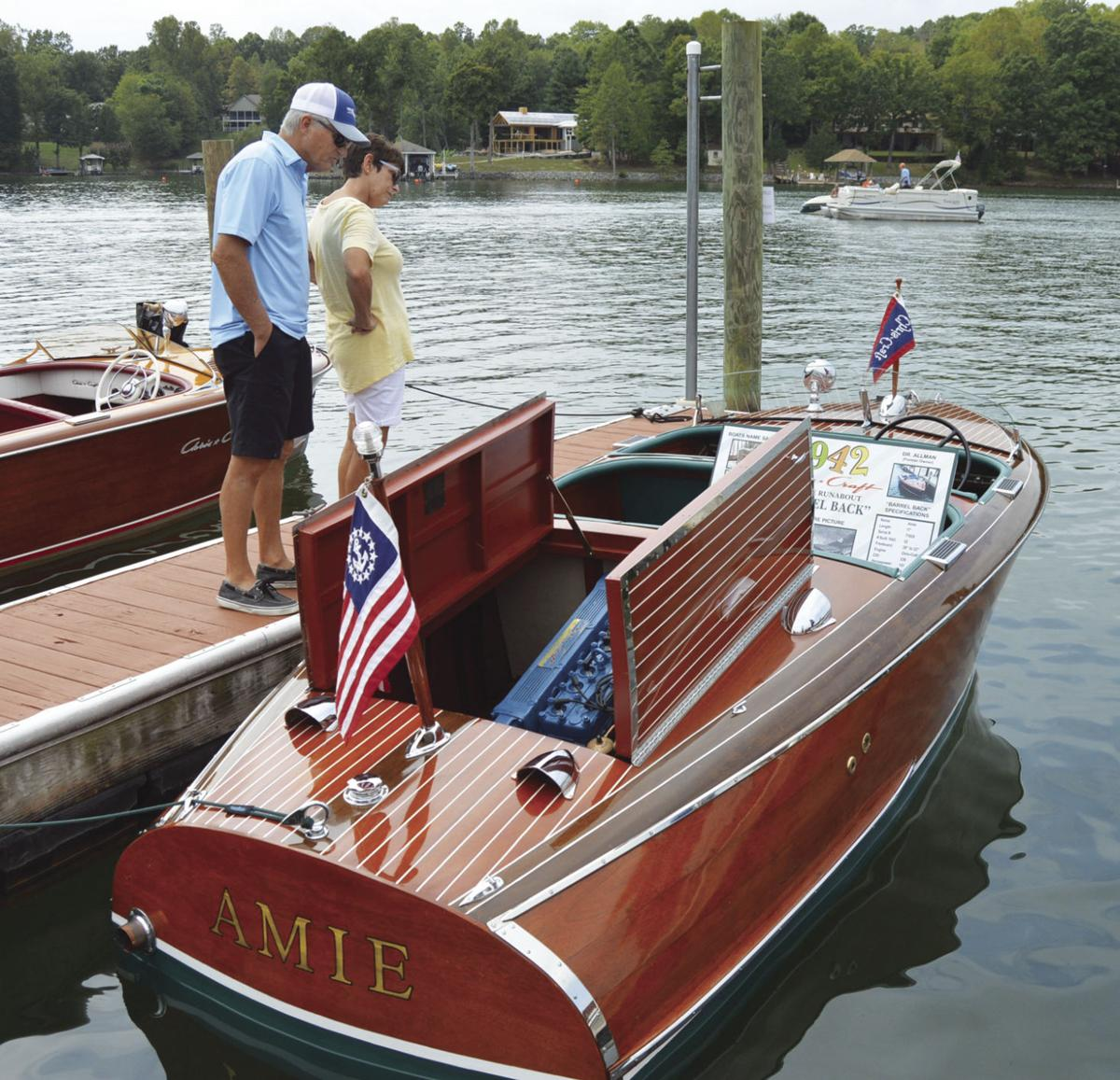 Antique and classic boats hit the waves