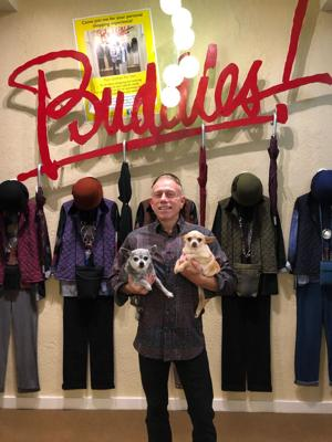 Chuck and his pups