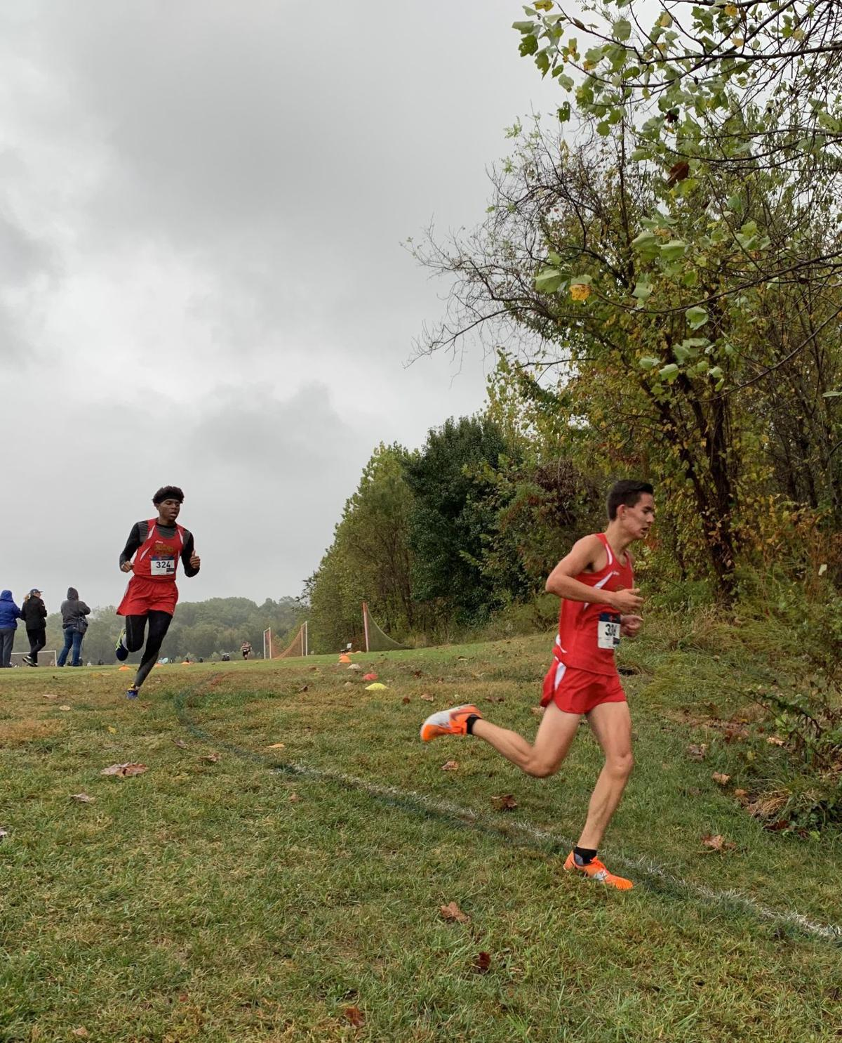 Josh Doughty, DeVion Bryant (North Point cross country)