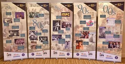 A panel display of MPT's history now is on display at the library in Lexington Park.