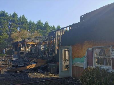 Fire in Helen destroys home