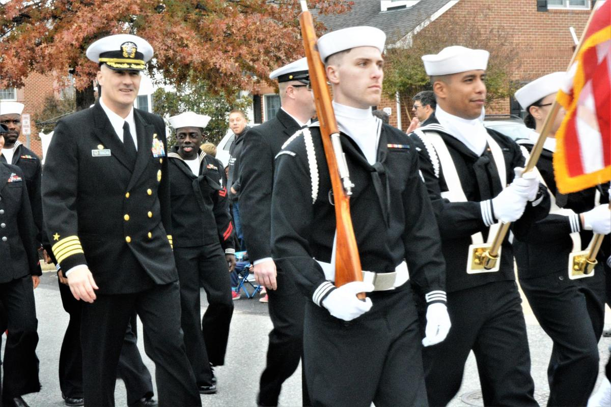 Capt. O'Leary on the march