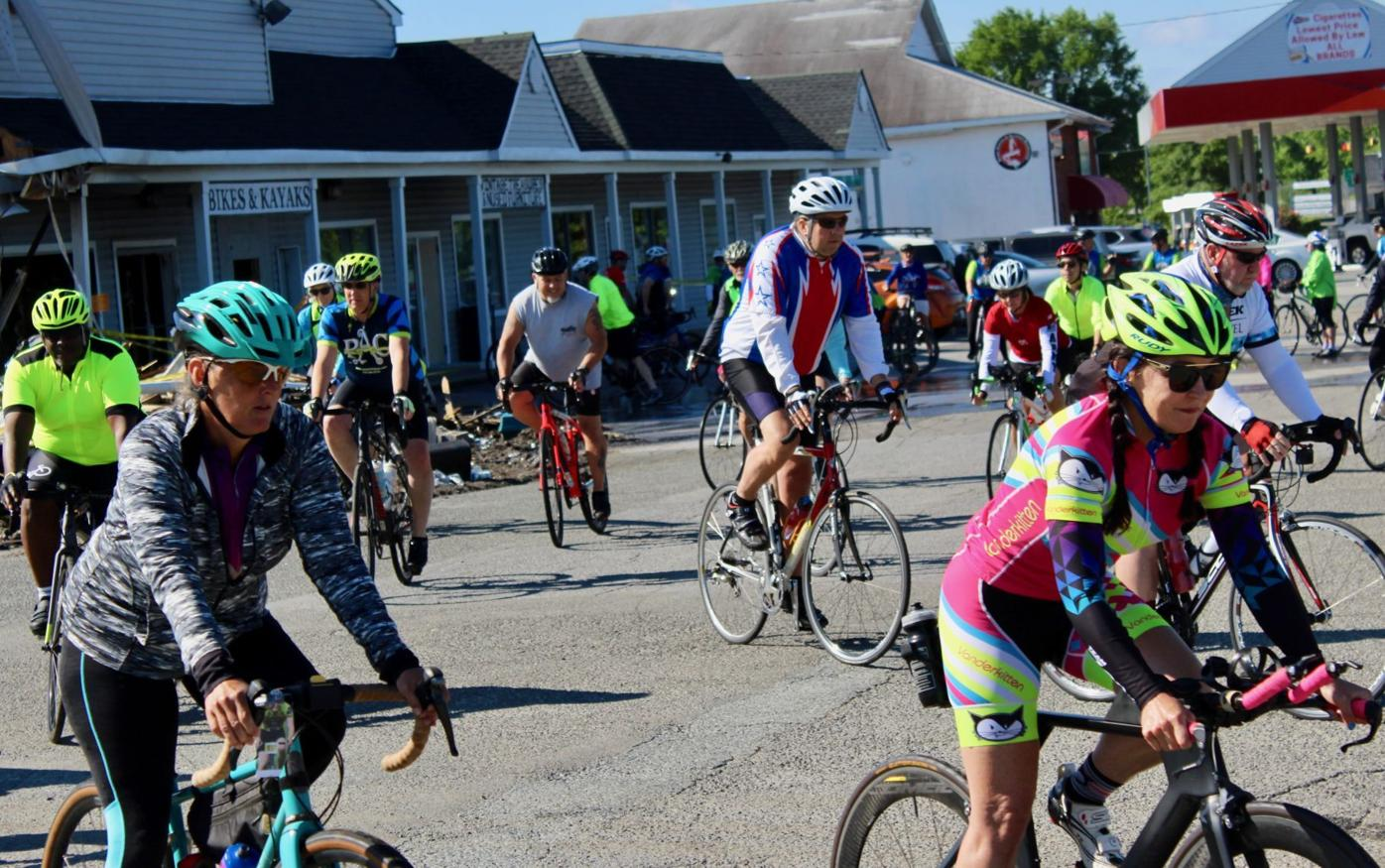 Cyclists in Solomons