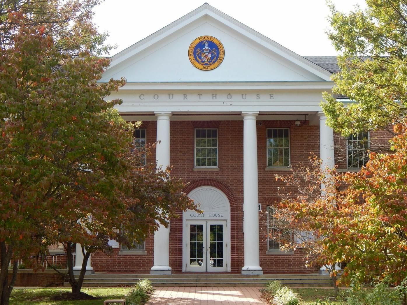 The John Hanson Briscoe Circuit Courthouse for St. Mary's County is located in Leonardtown.