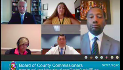 Commissioners and local health advisors meet virtually.