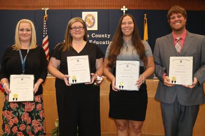 School board honors exemplary staff