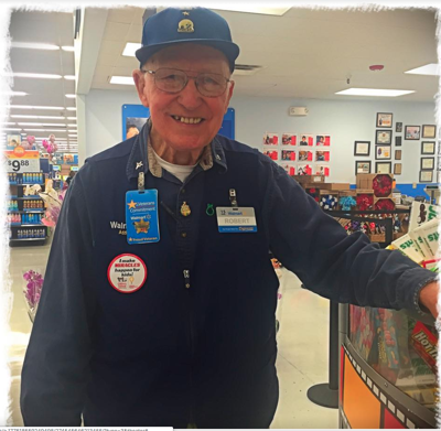 Walmart says beloved 85-year-old store greeter is not out of