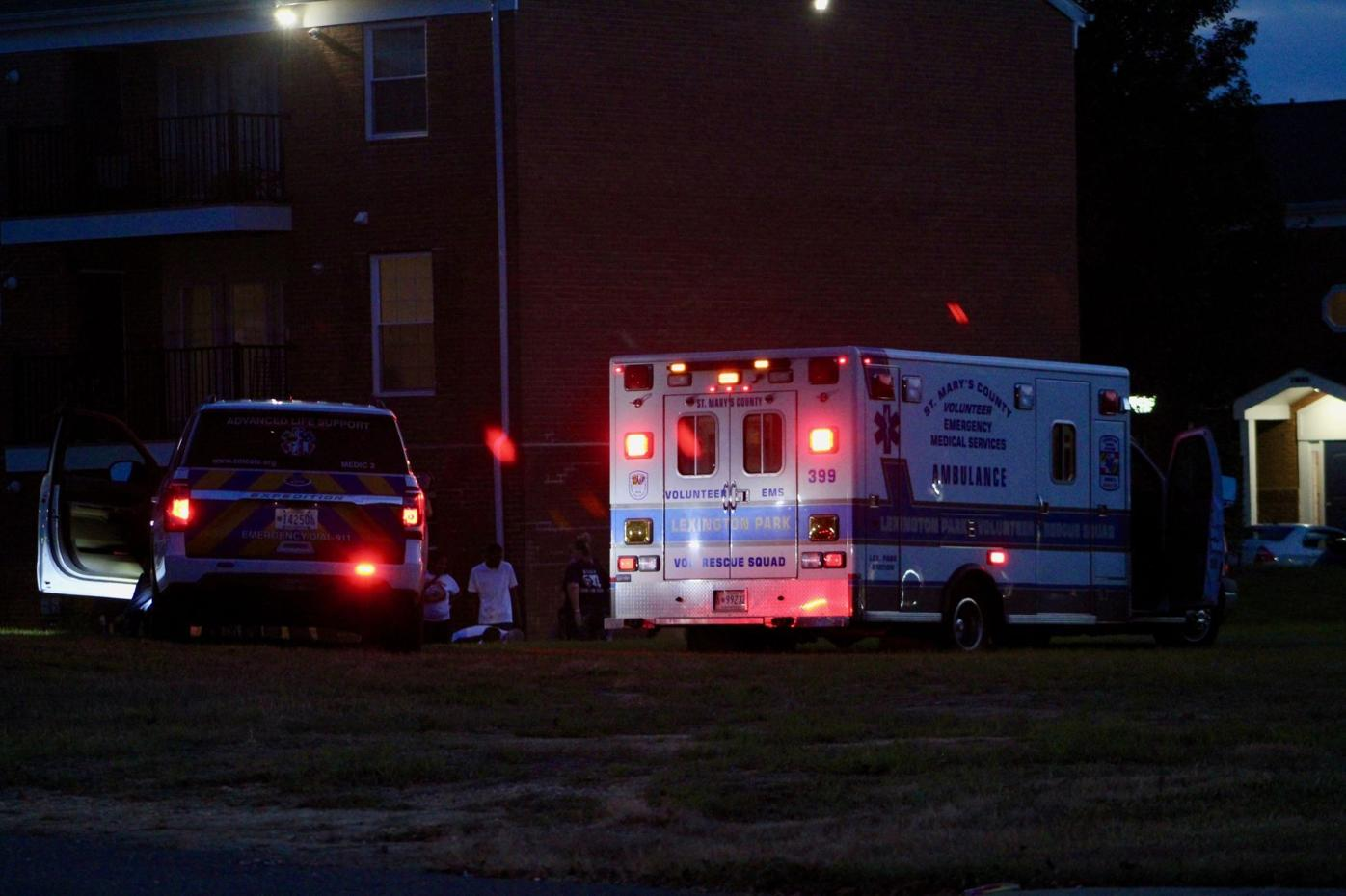 Emergency services respond to an overdose call in Lexington Park