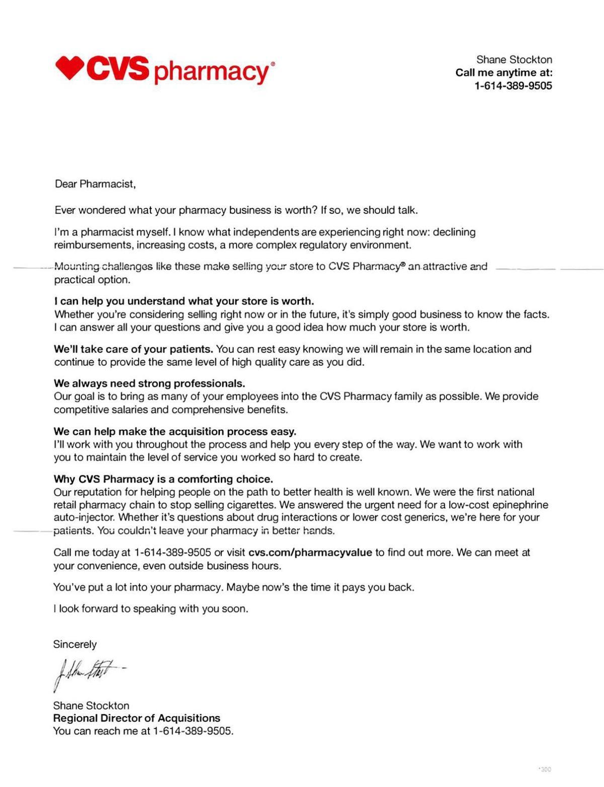 CVS sell your store letter Nov 2017 pdf     somdnews com
