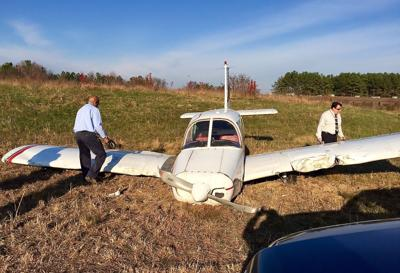 Plane crash lands at St. Mary's airport