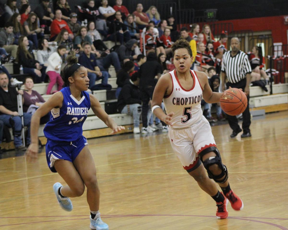 Darcy White (Chopticon girls basketball), Jasmine Carter (Leonardtown)
