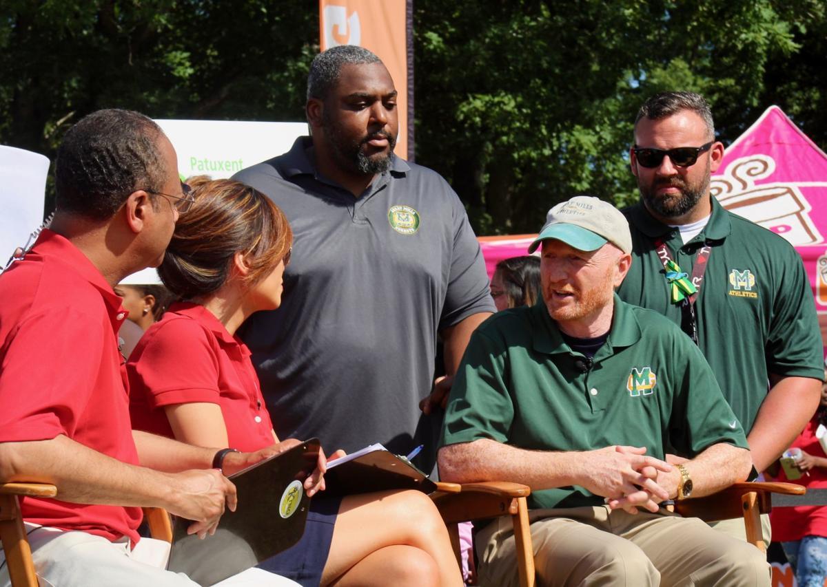TV team interviews Great Mills principal during 'zip trip'