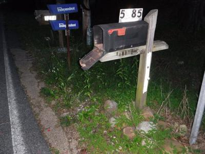 Fireworks lit off in mailbox
