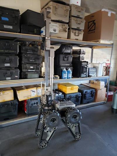 Telerob-3 bomb squad robot