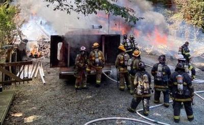 Labor Day fire