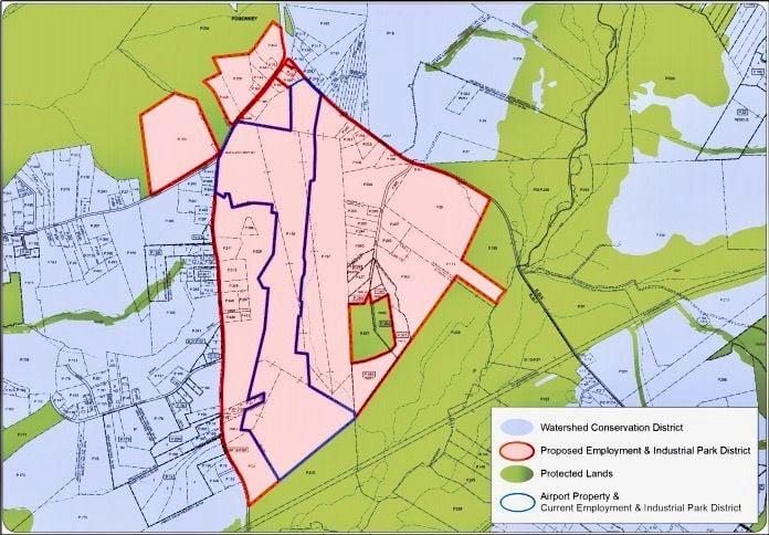 Airport rezoning map