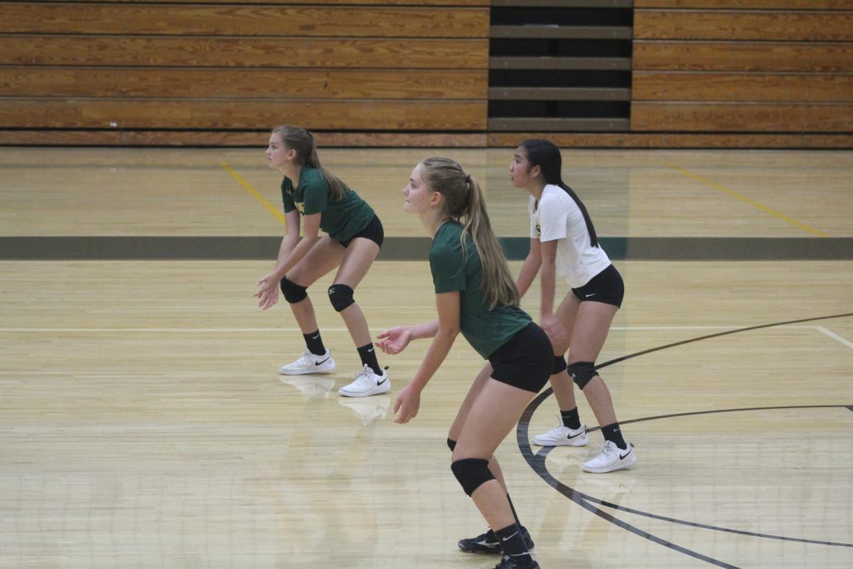 Lauren Long, Hannah Torgesen, Andrea Datan (Great Mills volleyball)