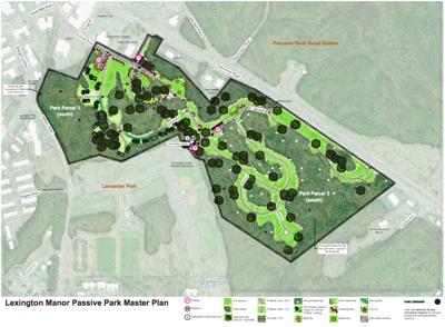 Draft plan for Lexington Manor park