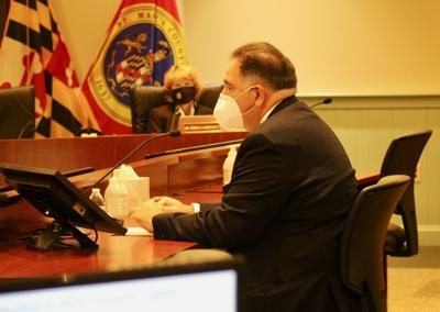 Dr. Stephen Micheals address commissioners
