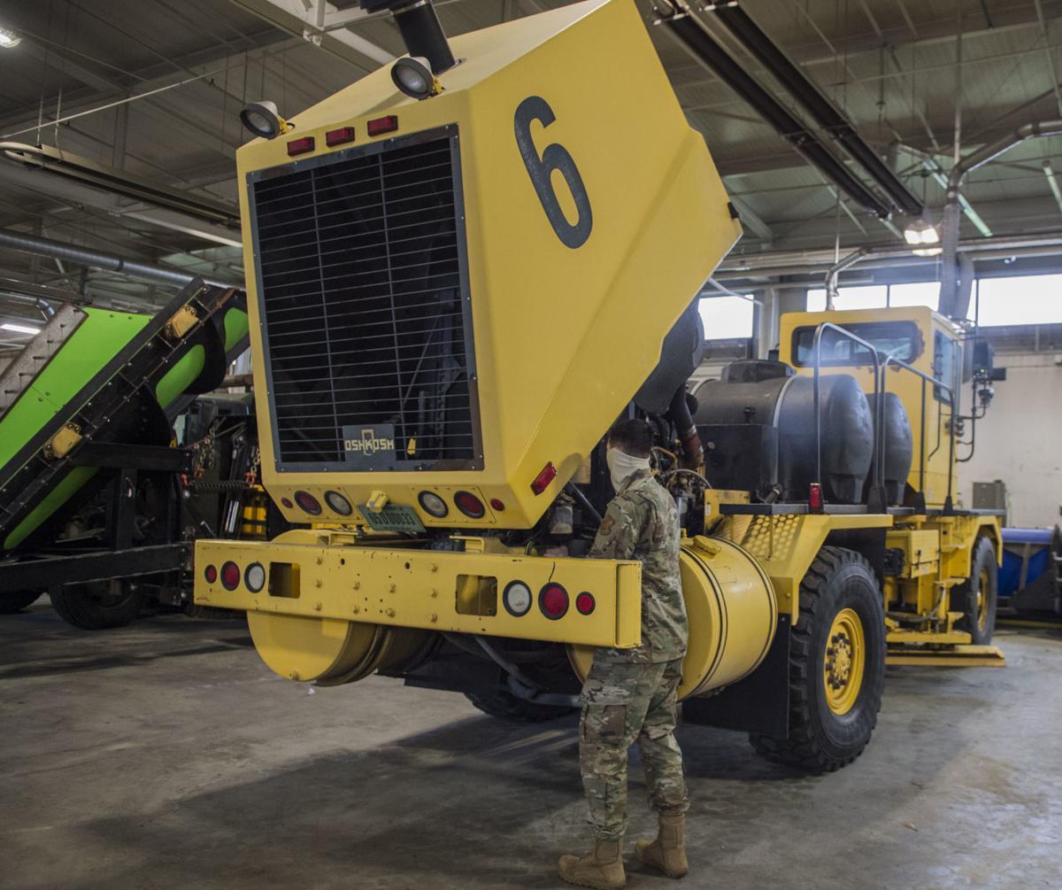 Maintenance work continues at Andrews amid pandemic