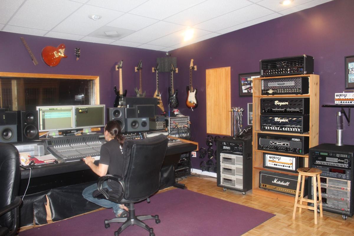 Waldorf rapper Tito Starr studio session at Nightsky Studios