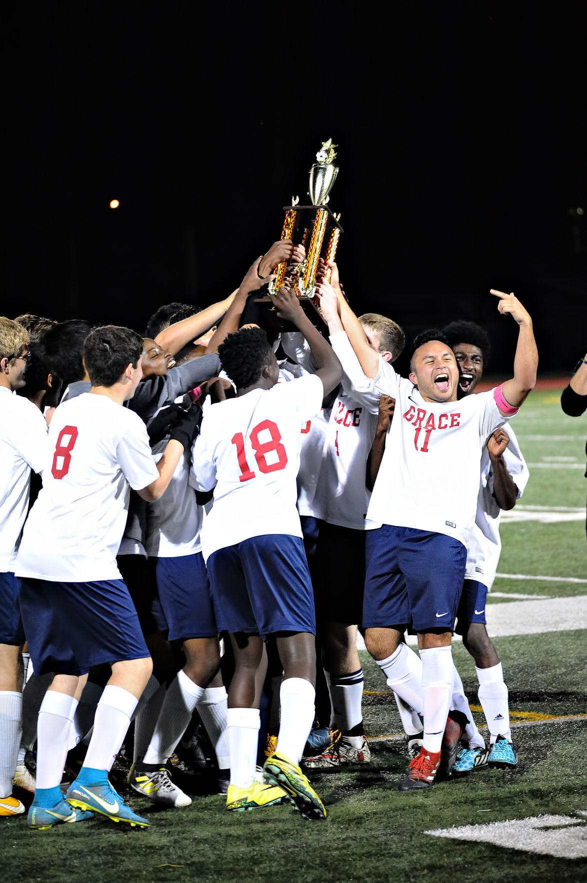 Grace Christian Academy boys soccer MISAL champions photo