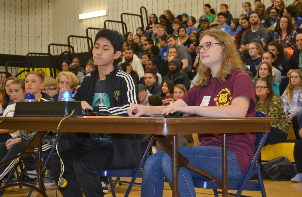 Middle school students compete in math competition