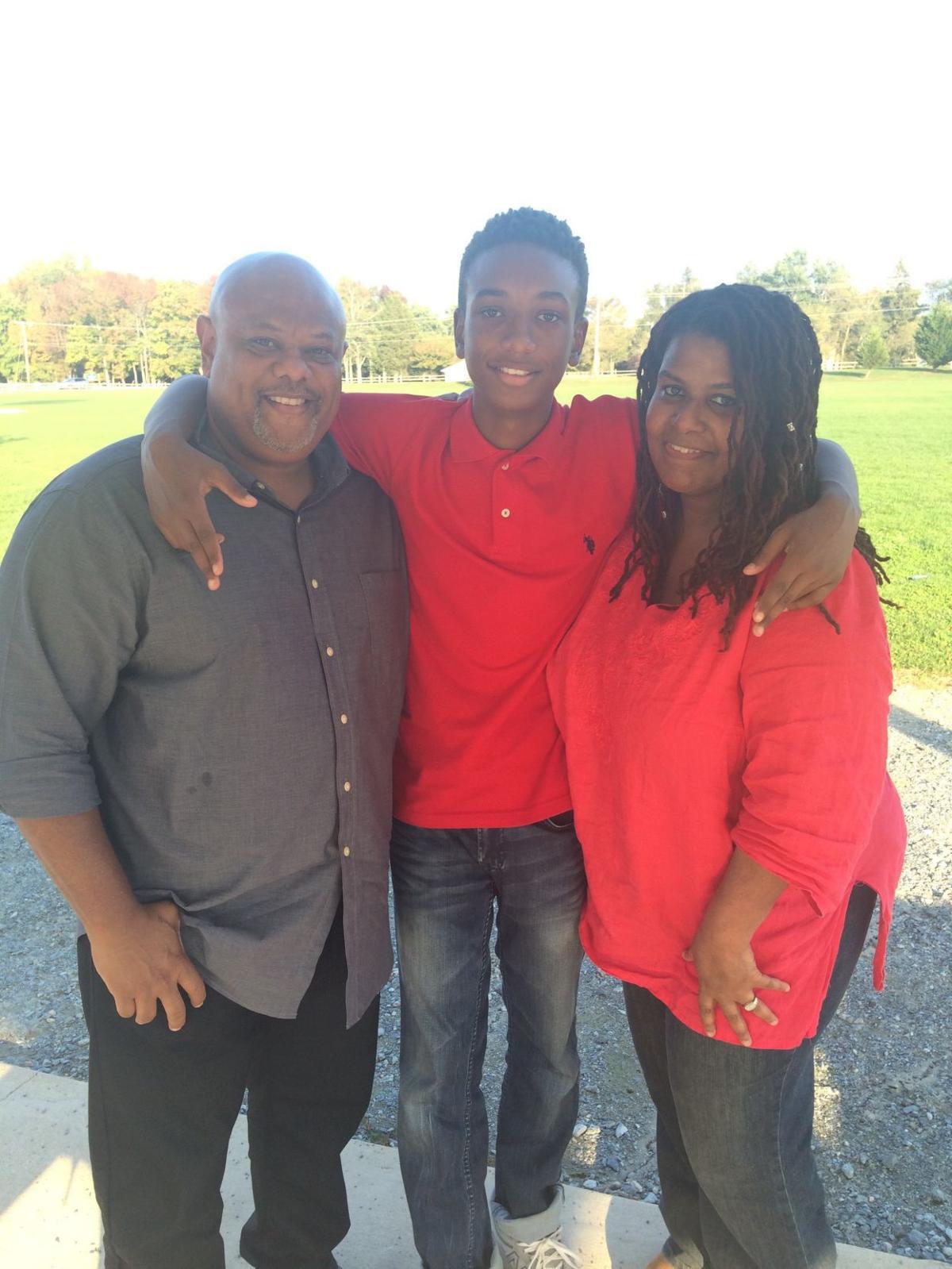 Actor Darius Kaleb with his parents