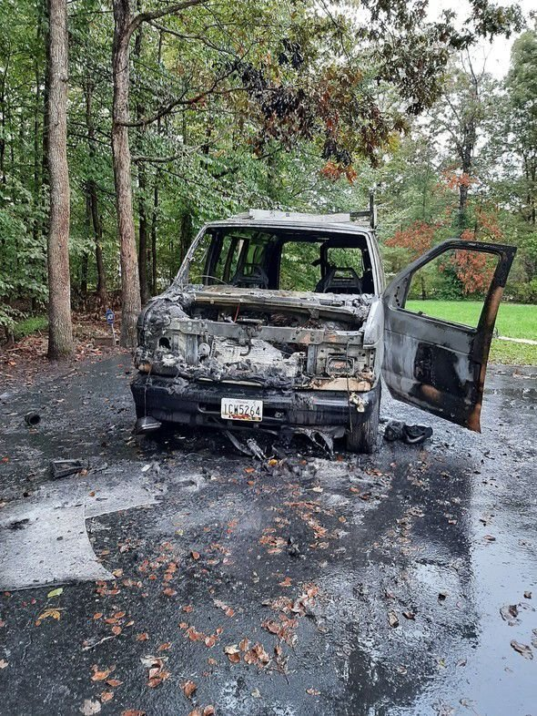 Fire marshals investigate Charles vehicle fire