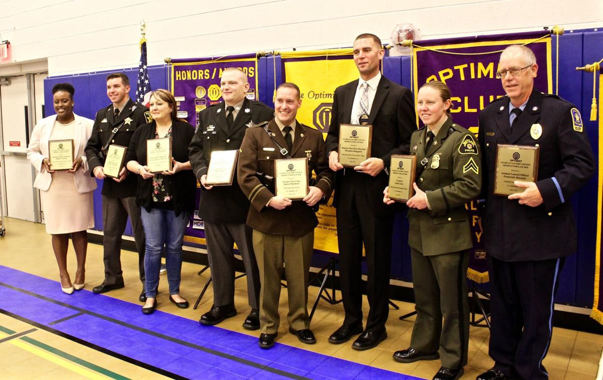 Dedicated law enforcement personnel honored by Optimist