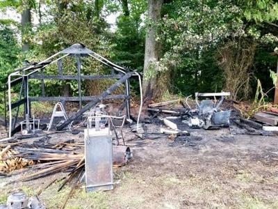 Shed burns in Leonardtown