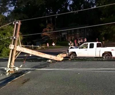 Crash causes power outage in Golden Beach