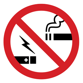 No smoking/vaping