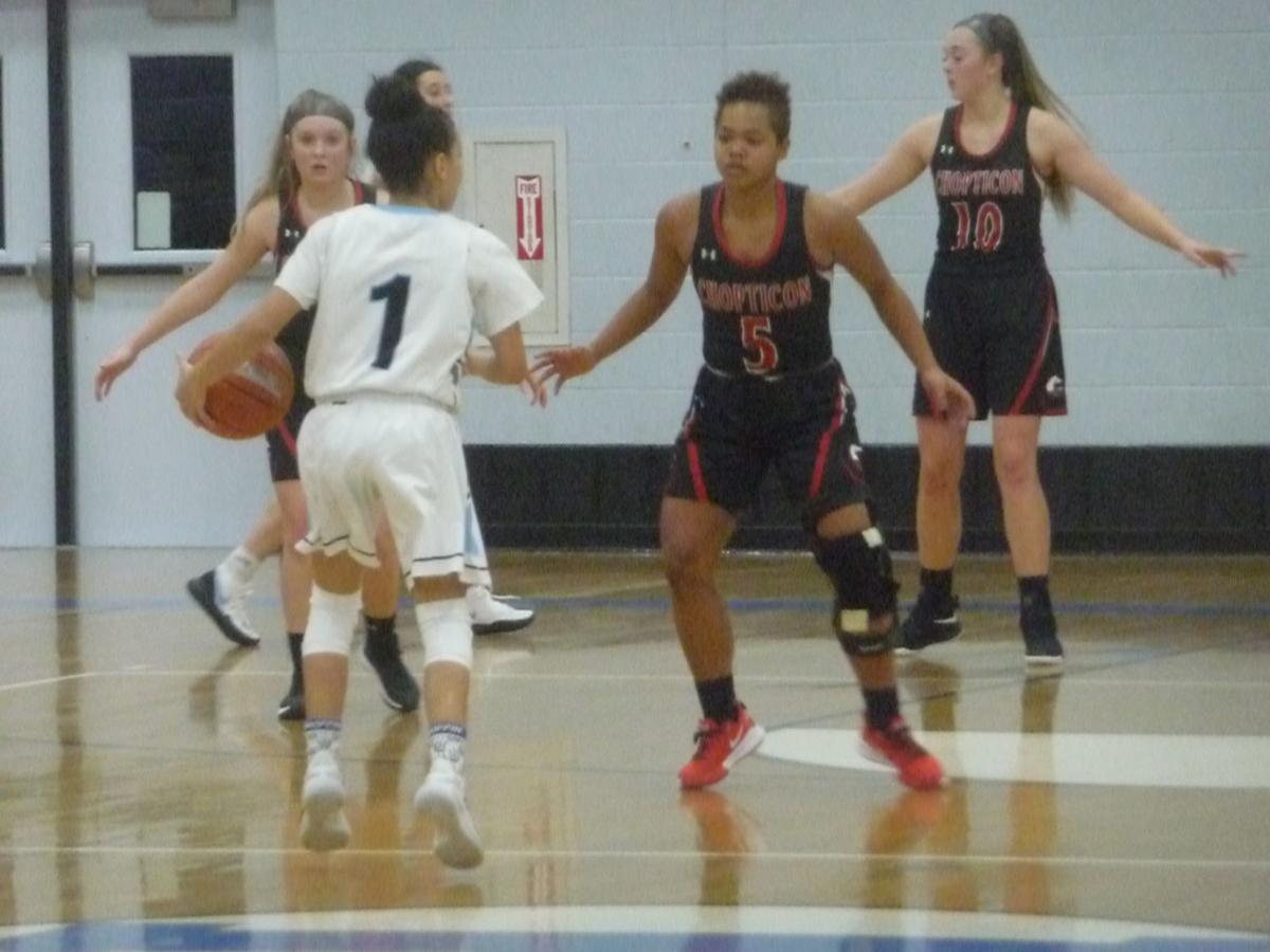 Arriyana Bracero (Huntingtown girls basketball), Darcy White (Chopticon)