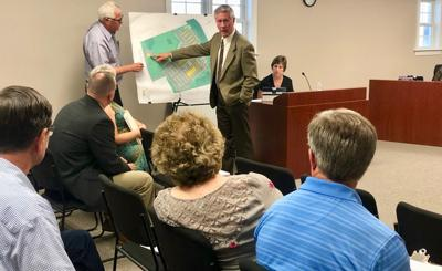 Rick Bailey presents revised site plan for storage facility