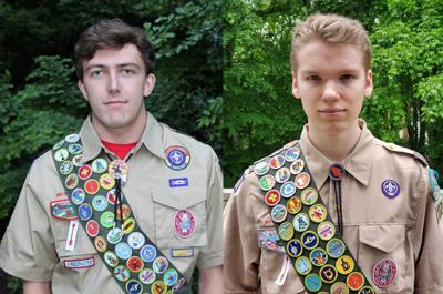 Two receive Eagle Scout awards
