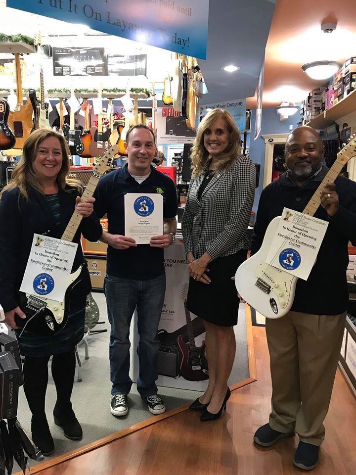 Island Music, former KISS member donate to new community center