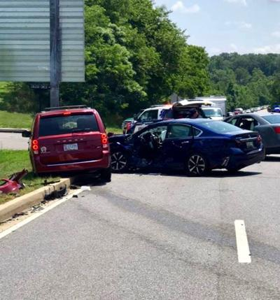 One trapped in Leonardtown collision