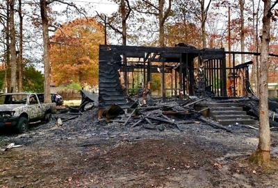 Fire destroys California home