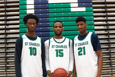 Cameron Chesley, Anthony Bowman, E'Mari Johnson (St. Charles boys basketball)