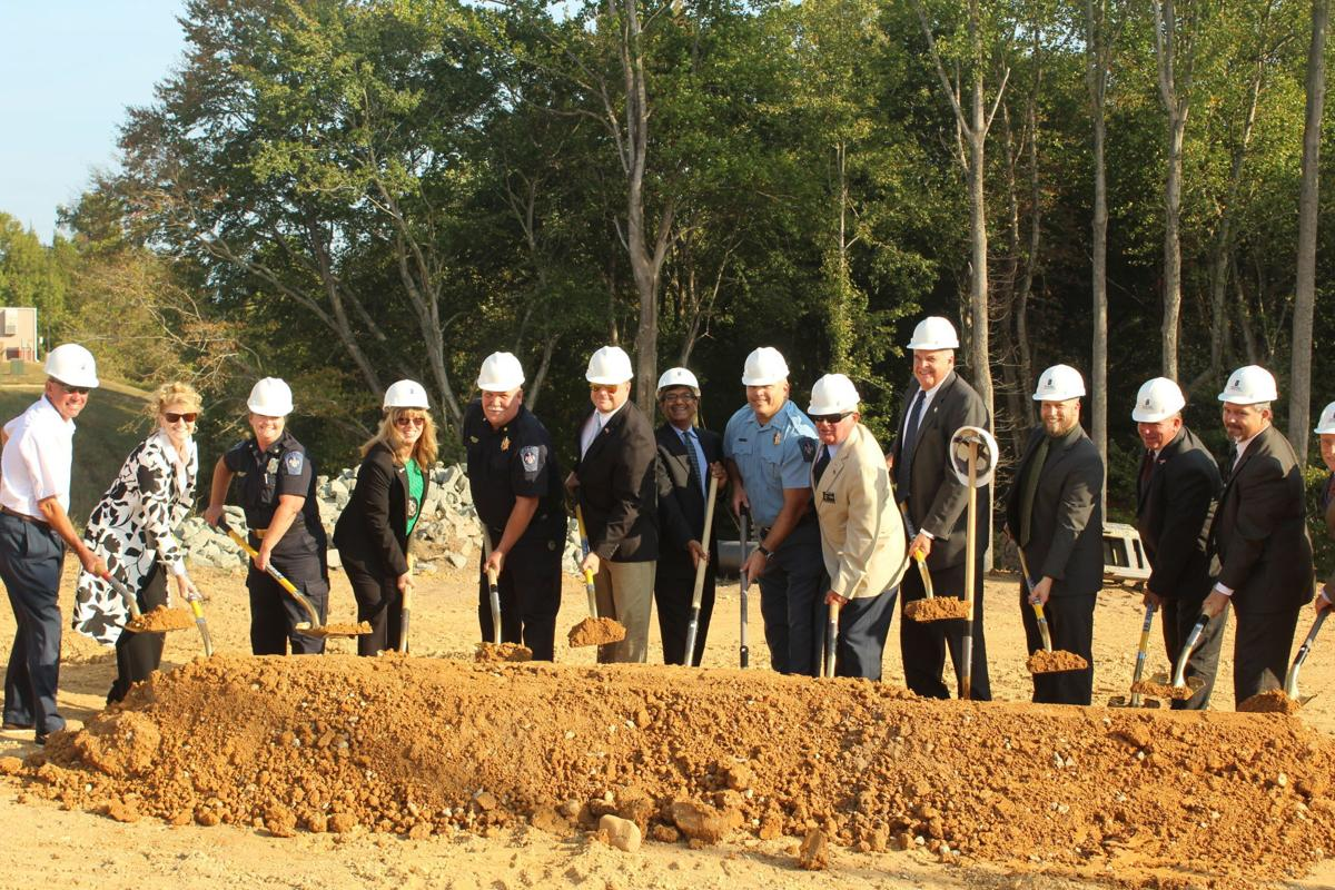 Commissioners and other St. Mary's officials break ground for rehab center renovation