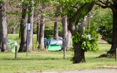 Encampment created to help the homeless during health crisis