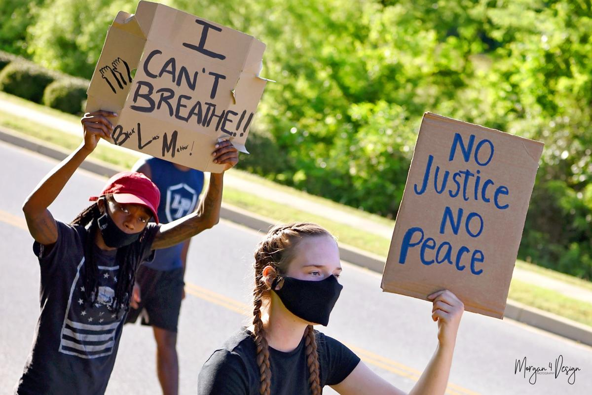Residents hold peaceful protest