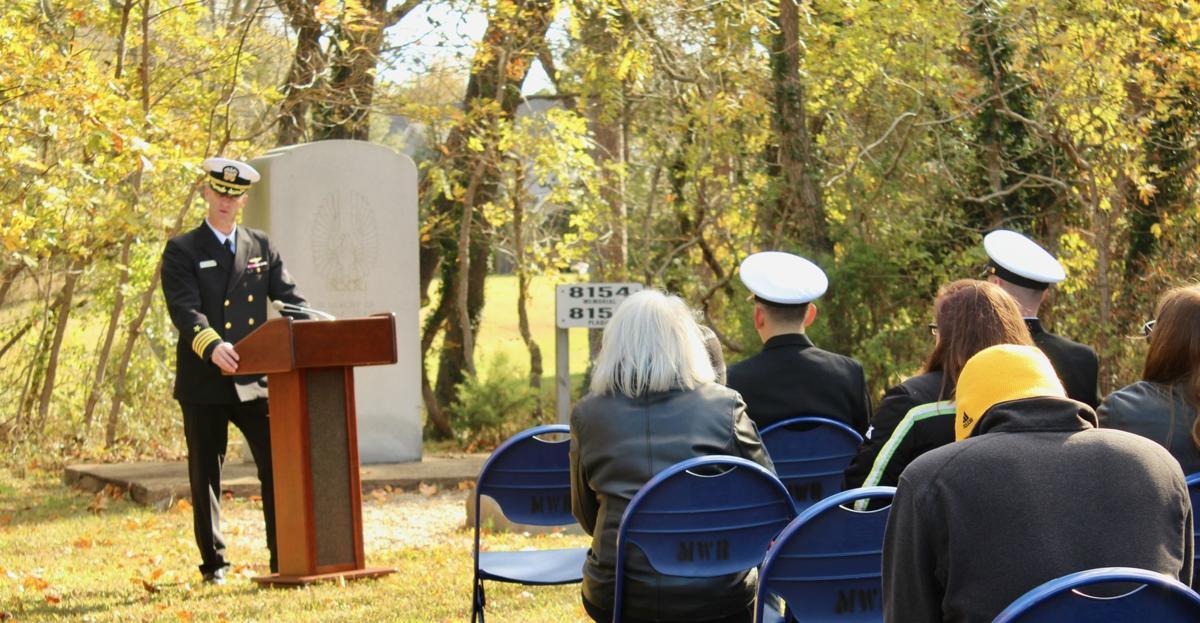John Brabazon speaking at the USS Tulip memorial ceremony