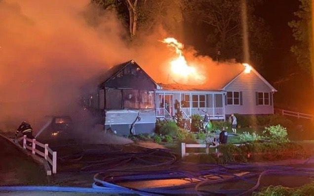House fire in St. Leonard