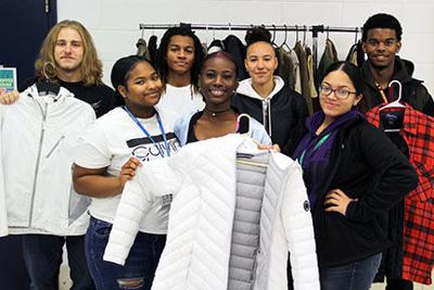Students collect coats for the needy